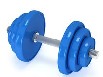 Blue Dumbbell Royalty Free Stock Image