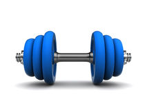 Blue dumbell Royalty Free Stock Image