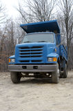 Blue Dump Truck. Front View of a Dump Truck Stock Photos