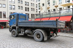 Blue dump truck Royalty Free Stock Image