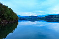 Blue dusk over lake Royalty Free Stock Photos
