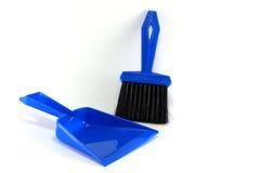 Blue dust pan Stock Images