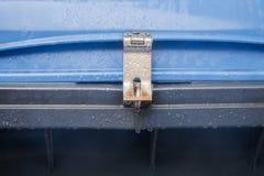 Blue dustbin Stock Photography