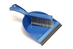 Blue dustpan. Stock Photo