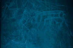 Blue Dusty Scratchy and grain Textured wall - Old vintage grung Stock Photos
