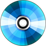 Blue DVD/CD Disc Vector Stock Photography