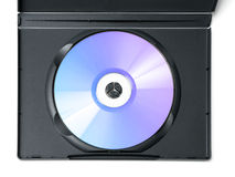 Blue DVD disc in case Royalty Free Stock Photography
