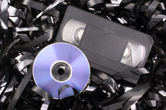 Blue DVD film. Photo of Blue DVD film Royalty Free Stock Photo