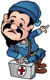 Blue Dwarf - Elf Doctor Stock Image