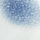 Blue dye in bubbles, closeup Stock Image
