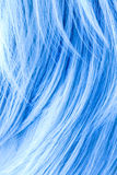 Blue dyed hair Royalty Free Stock Images
