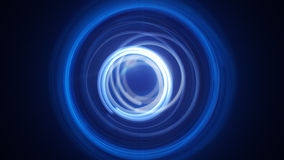 Blue dynamic light circles long exposure lightpainting Royalty Free Stock Photography