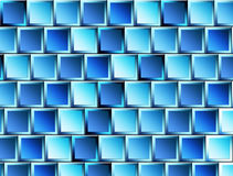 Blue dynamic shapes Stock Photography