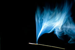 Blue dynamic smoke. Royalty Free Stock Images