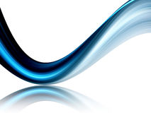 Blue dynamic wave Stock Photos