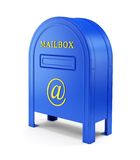 Blue e-mail postbox Royalty Free Stock Image