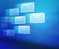 Blue E-mails Abstract Background. Image Royalty Free Stock Image