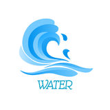 Blue ea wave abstract symbol Royalty Free Stock Image