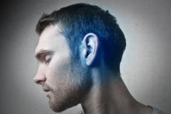 Blue ear Royalty Free Stock Photography