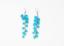 Blue earring stock photos