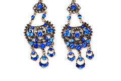 Blue Earrings Royalty Free Stock Photography