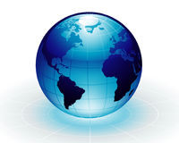 Blue Earth. Vector: Blue Earth like ocean color Royalty Free Stock Photography