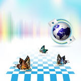 Blue earth Royalty Free Stock Photo
