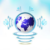 Blue Earth Royalty Free Stock Photography