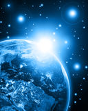 Blue earth. Earth in a open space vector illustration