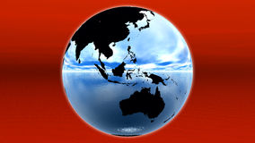 Blue earth. On red horizon royalty free illustration