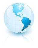 Blue earth. Showing north and south america stock illustration