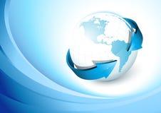 Blue earth Stock Image