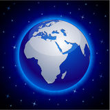 Blue Earth - Africa. Stock Image