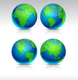 Blue Earth balls. Stock Photography