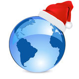 Blue earth christmas  concept Stock Photo