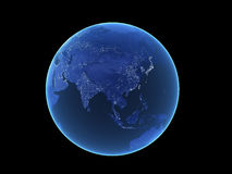 Blue Earth with Clipping Path Royalty Free Stock Photography