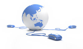 Blue Earth connection Stock Images