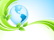Blue earth design stock images