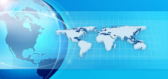 Blue earth design Royalty Free Stock Images
