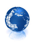 Blue earth globe Royalty Free Stock Photo