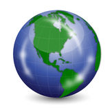 Blue Earth Globe Stock Photo