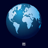 Blue Earth Globe Stock Photography