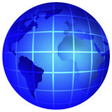 blue Earth globe Stock Image