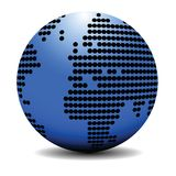 Blue earth globe concept Royalty Free Stock Photography