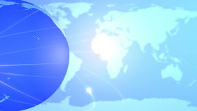 Blue Earth globe and map background stock video