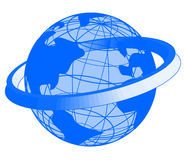 Blue Earth icon Stock Photos