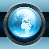 Blue earth icon Stock Image