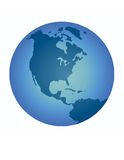 Blue Earth Illustration Royalty Free Stock Images