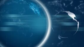 Blue Earth Motion Graphic. Video of Blue Earth Motion Graphic stock footage