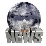 Blue earth news Stock Photos